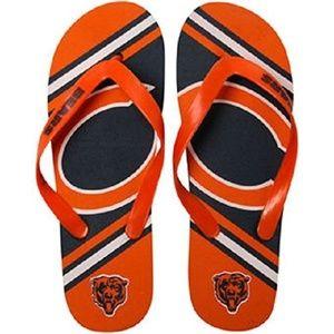 NFL Chicago Bears Men's Rubber Logo Flip Flops